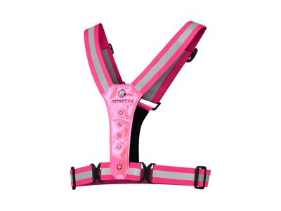 Rogelli - Sports LED -väst - Rosa - En storlek