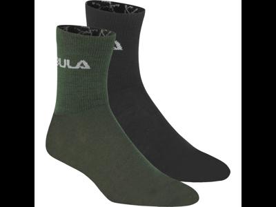 Bula - Ullstrumpor - 2 förpackningar - Oliv / Svart
