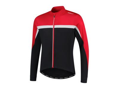 Rogelli Course - Cykeltrøje - Lange ærmer - Sort hvid rød