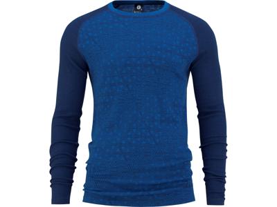 Bula - Geo Merino Wool Crew - Svedundertrøje - Mørkeblå