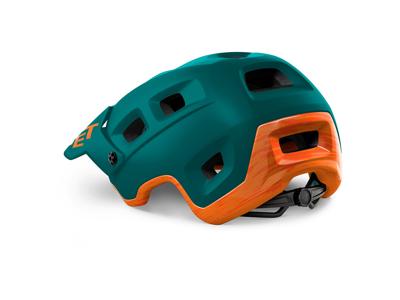 MET Terranova - MTB Cykelhjelm - Mat Alpine Green Orange