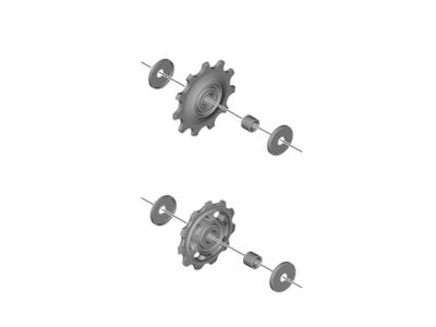 Shimano Deore - Pulleyhjul - 1 sæt - Til bagskifter - RD-M5120