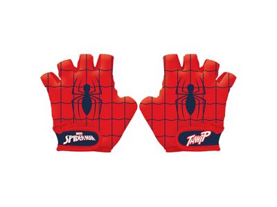 Seven - Spiderman - Cykelhandskar för barn - Röd