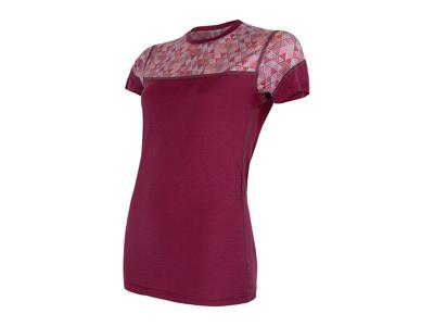 Sensor Merino Impress - Merinoulds T-shirt med korte ærmer - Dame - Lilla