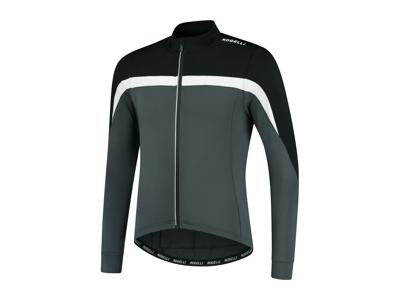 Rogelli Course - Cykeltrøje - Lange ærmer - Grå hvid sort