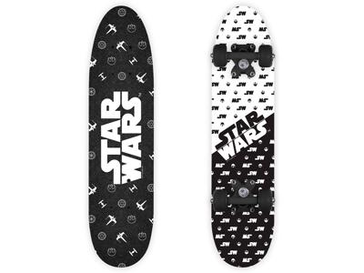 Seven - Star Wars - Skateboard - Sort/hvid