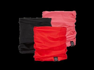 OXC - Halsedisse - 3 st. paket - Polyester - En storlek - Rosa, svart, röd