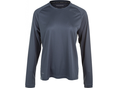 Endurance Jannie - Cykel/MTB trøje m. lange ærmer - Dame - Grå