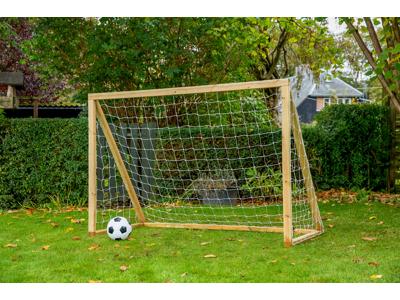 Homegoal - Classic Junior Natur - Foldboldmål i træ - 175x150 cm