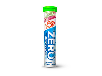 High5 Zero tabs - Elektrolyt tabs - Æble/hindbær - 1x20 stk.