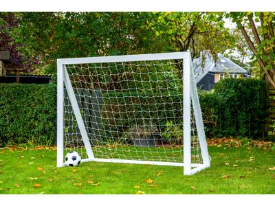 Homegoal - Pro Junior hvid - Fodboldmål i træ - 175x140 cm