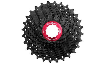 Sunrace CSRX1 - Kassette 11 gear - 11-25 tands - Road - Til Shimano eller Sram - Sort
