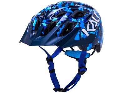 Kali Chakra Youth - Sykkelhjelm - Pixel / Gloss Blue - Størrelse 52-57 cm