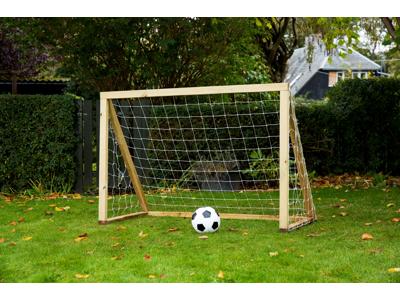 Homegoal - Classic Mini Natur - Fodboldmål i træ - 150x120 cm