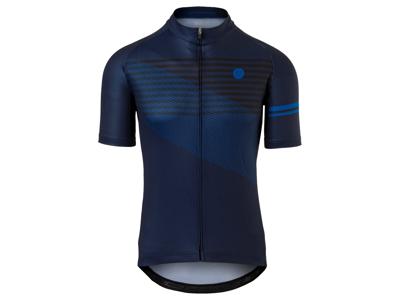 AGU Jersey Striped - Cykeltrøje - Blå