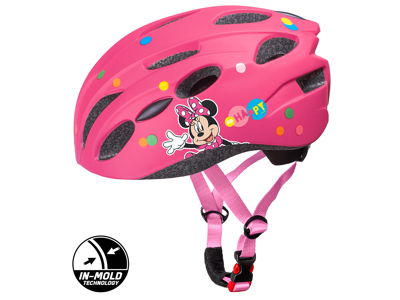 Seven - Minnie Mouse - Sykkelhjelm med form - Rosa - Størrelse 52-56 cm