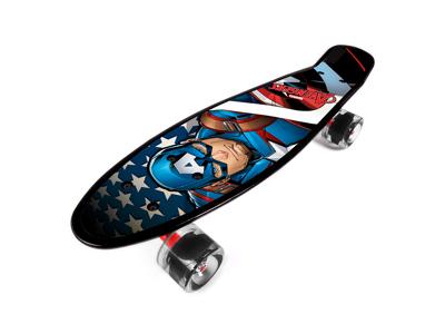 Seven - Avengers Captain America - Penny board - Blå - Fra 6 år