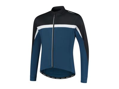 Rogelli Course - Cykeltröja - Långa ärmar - Blåvit svart