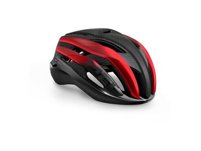 Met Trenta 3K Carbon - Cykelhjelm - Matsort/Mat Rød - Str. 56-58 cm