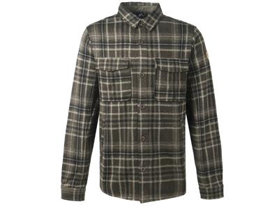 Whistler - Dewey M Checked Fleece Shirt - Skjorte - Forest Night