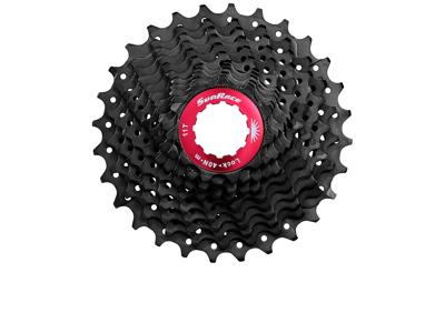 Sunrace CSRX1 - Kassette 11 gear - 11-32 tands - Road - Til Shimano eller Sram - Sort