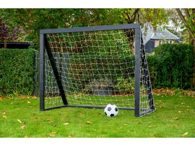 Homegoal - Pro Junior sort - Fodboldmål i træ - 175x140 cm