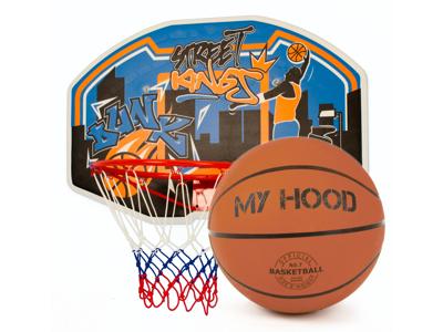 My Hood  - Basketkurv på plade - Inklusiv bold