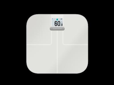 Garmin Index Smart Scale - Vægt der bl.a måler kropsfedt, vand og BMI - Hvid