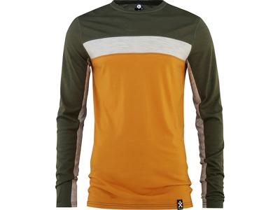 Bula - Retro Wool Crew - Svedundertrøje - Orange/Grøn