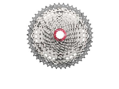 Sunrace CSMX3 - Kassette 10 gear - 11-46 tands - MTB - Til Shimano eller Sram - Metallic