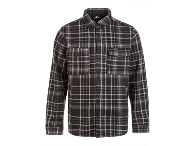 Whistler - Dewey M Checked Fleece Shirt - Skjorte - Black