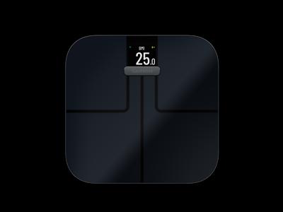 Garmin Index Smart Scale - Vægt der bl.a måler kropsfedt, vand og BMI - Sort