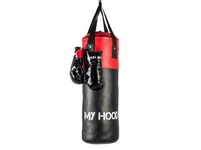 My Hood  - Boksesæk med handsker - 10 kg - 4-12 år