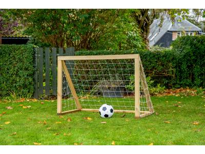 Homegoal - Classic Micro Natur - Foldboldmål i træ - 125x100 cm