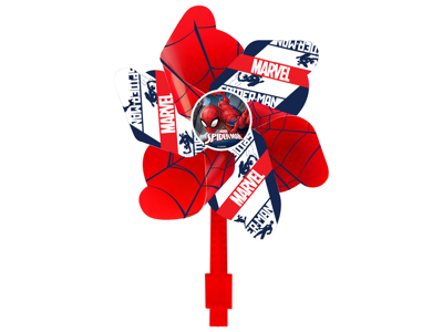 Seven - Spiderman - Vindmølle til cykelstyr - Rød
