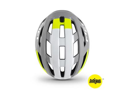 MET Vinci Mips - Cykelhjelm - Grå/Hvid/Gul