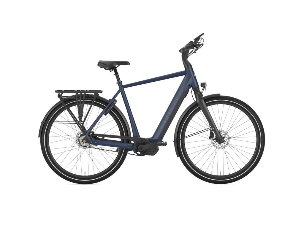Køb Gazelle  Chamonix C5 – Elcykel – 5 gear – Fodbremse – Blue –  Str. 57 cm