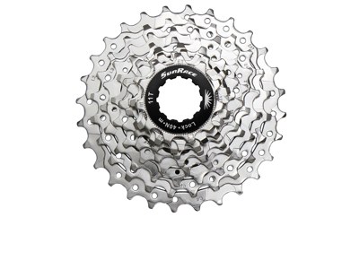 Sunrace CSR91 - Kassette 9 gear - 11-28 tands - Road - Til Shimano eller Sram - Nickel