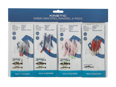 Kinetic Sabiki Mackrel/Makrel 4-pack