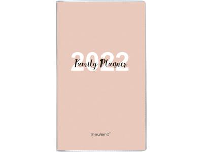 Family Planner, månedskalender m/tlf.reg., PP-plast m/illu,