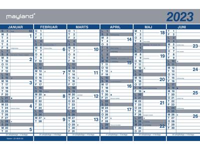 Kartonkalender halvårs