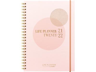 Life Planner A5, pink, studiekalender, uge FSC Mix