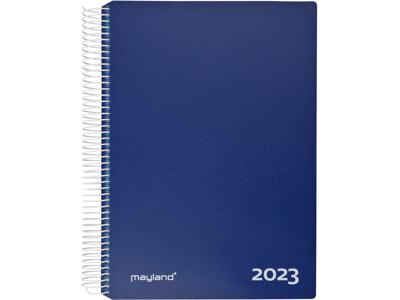 Timekalender 2023, 1-dag, hård PP-plast, blå, FSC Mix
