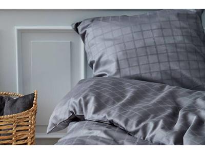 Södahl Sengetøj damaskvævet i grey i 100% bomuld, Clear
