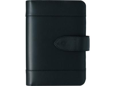 System PP dagkalender, 27 mm ringe, mappe i skind, sort