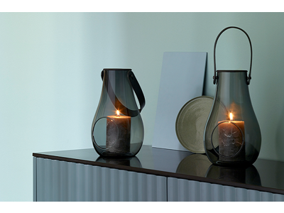 Holmegaard Design with light lanterne 2 stk 25 cm, smoke