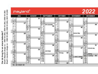 Mini kalender, FSC Mix