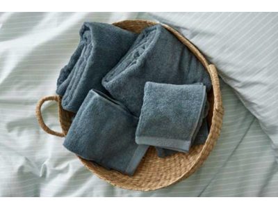 Södahl Sengetøj og håndklæder i linnen blue, alt er 100% øko