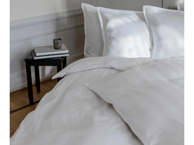 Double Stripe sengetøj white, 2 sæt