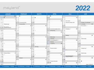 A4 kontorkalender, klassisk, FSC Mix